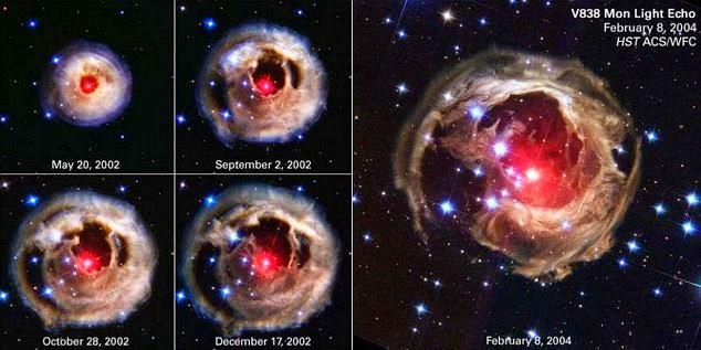 Bintang meletup di angkasa