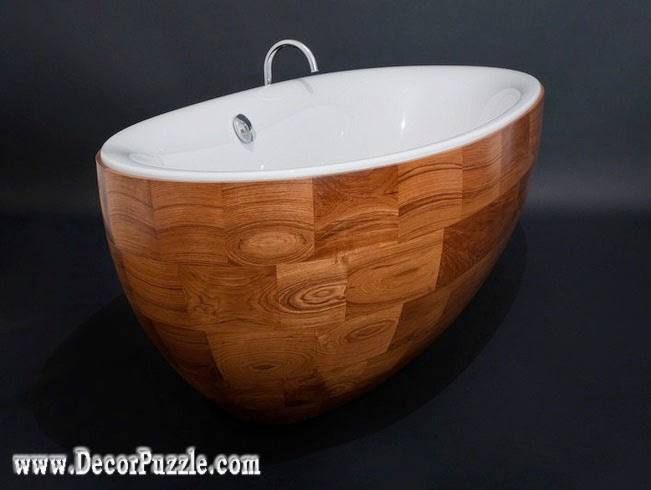 luxury bathtubs for modern bathroom, wooden bathtub designs 2015