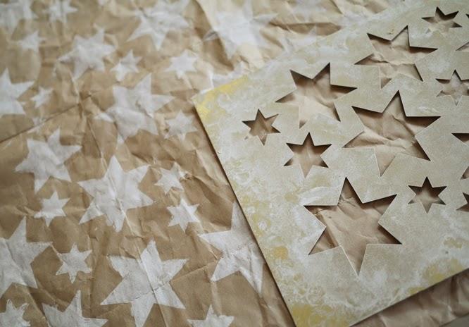 Making homemade wrapping paper www.somethingimade.co.uk