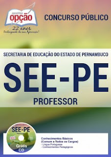 Apostila SEE/PE Professor Concurso (Magistério) Pernambuco.
