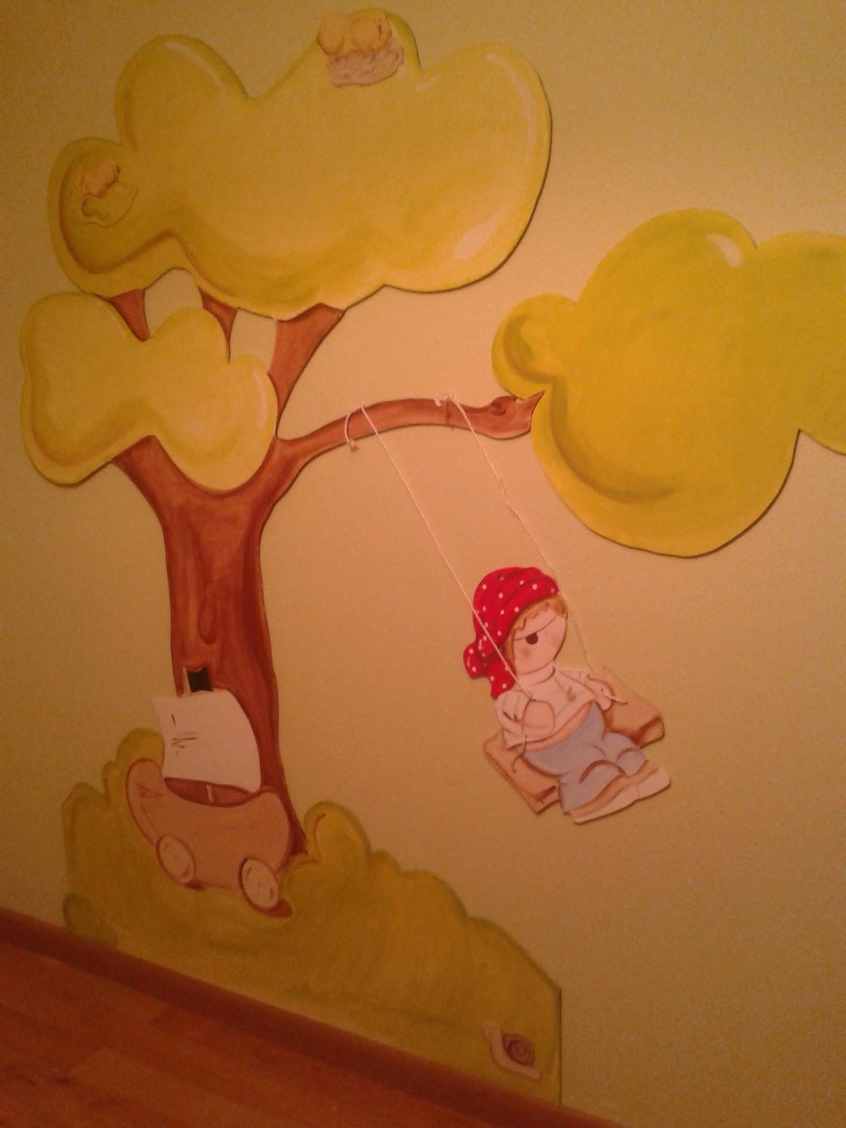 Deco chambre b b peinture murale chambre bebe avec for Peinture chambre de bebe