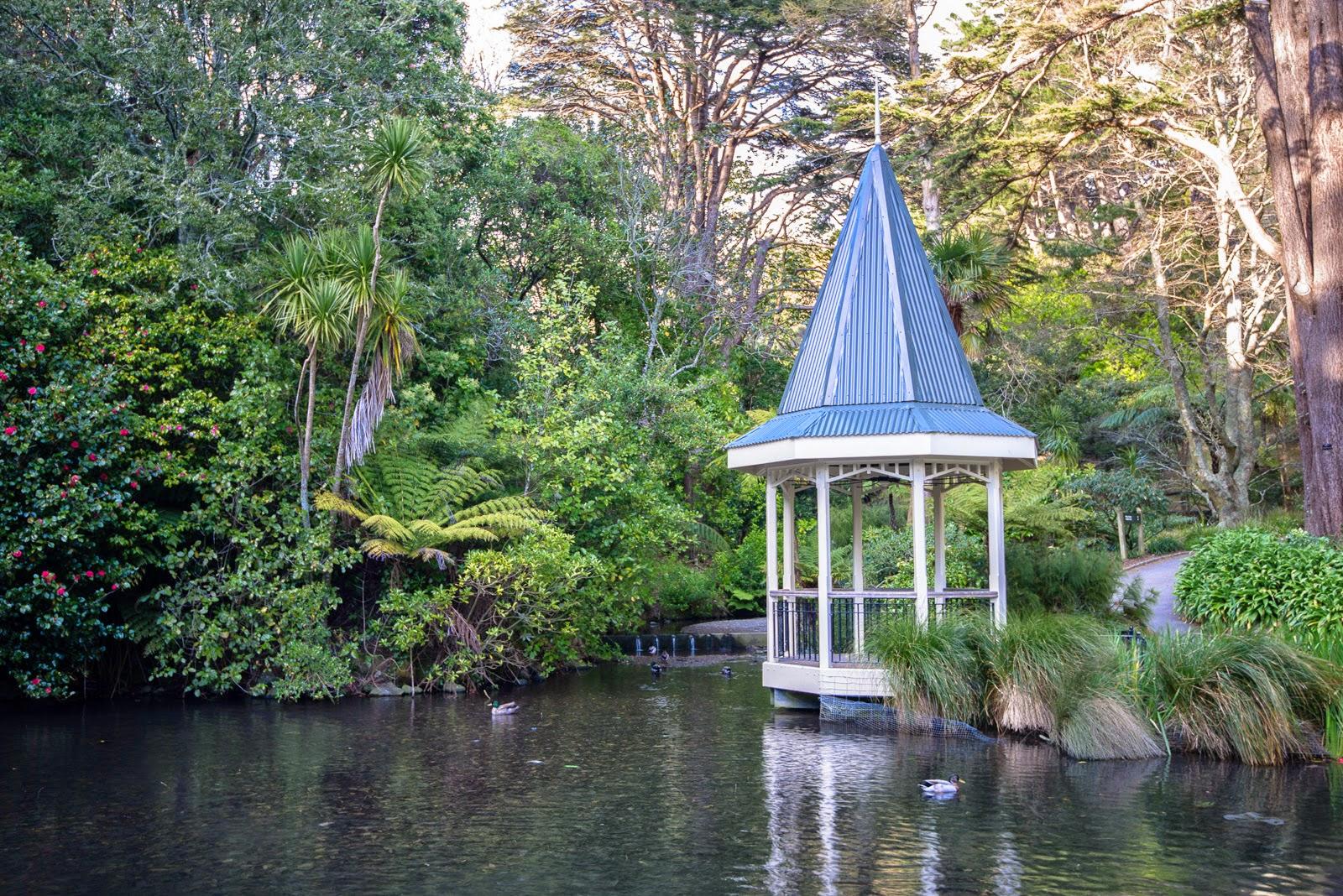 pergola ducks duckpond Wellington gardens