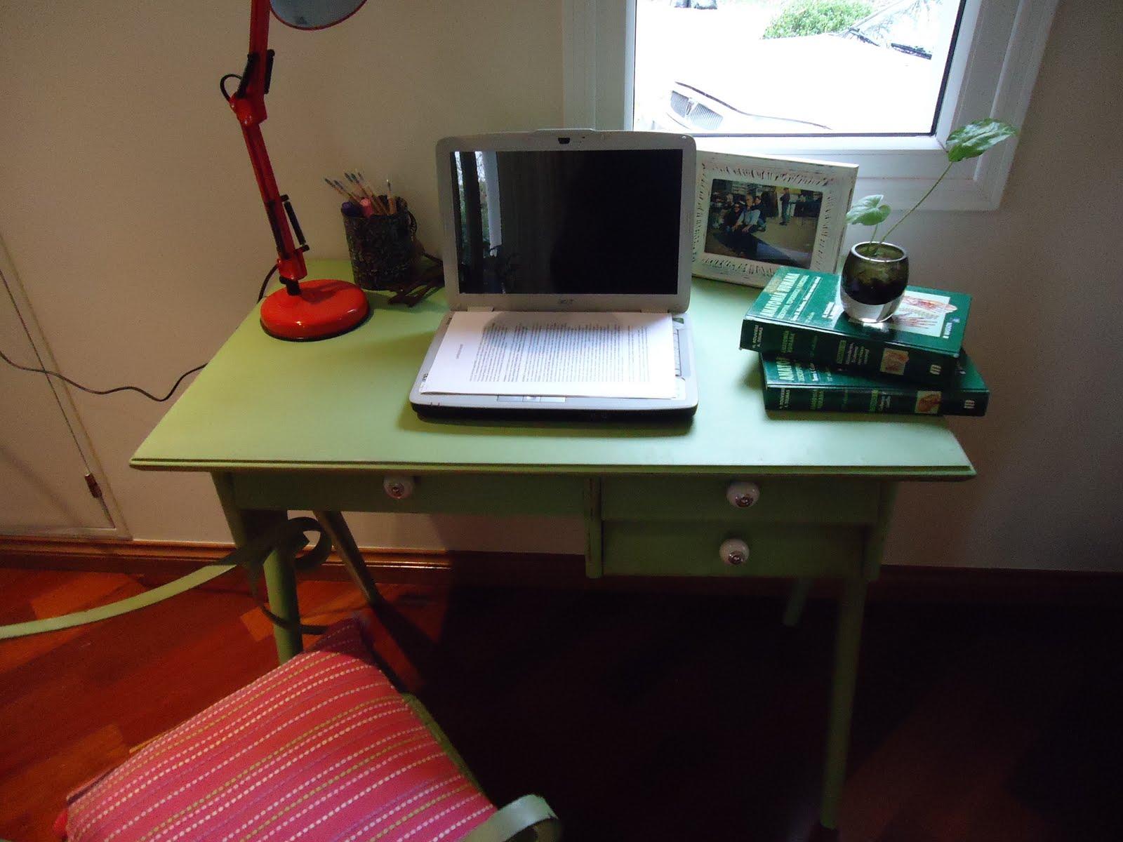 Vintouch muebles reciclados pintados a mano - Escritorio vintage segunda mano ...