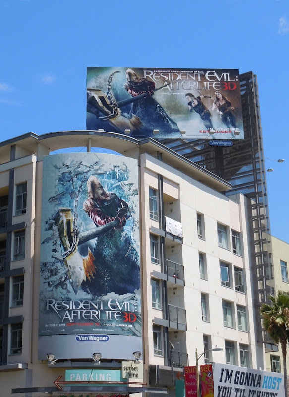 Resident Evil Afterlife 3D billboards