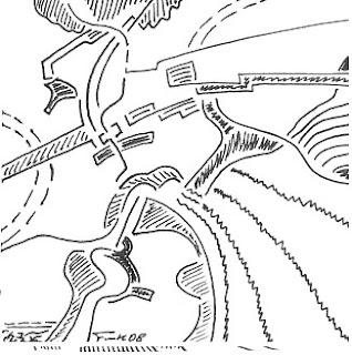 Zeichnung Bild / painting picture : Rennen / race