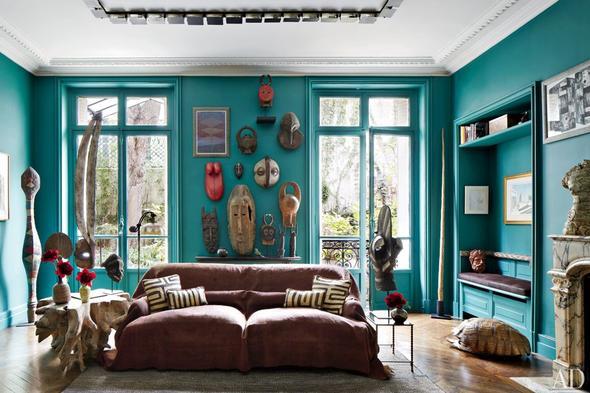 Sala en color turquesa salas con estilo - Como hacer color turquesa ...