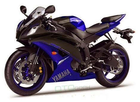 gambar motor yamaha r6 biru