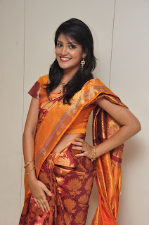 Model krupali in silk saree at cmr ashadam event 010.jpg