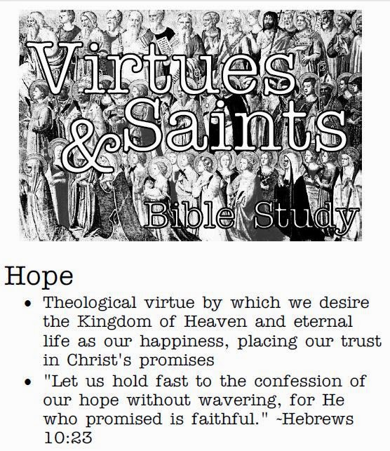 virtue of hope The virtue of charity baptism along with faith and hope it is the greatest of the three theological virtues and also the greatest gift that god bestows on us.