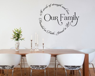 I see them in my clientu0027s homes all the time. I have started to grow really  fond of them. Some decals that Iu0027ve seen are simple inspiring phrases.