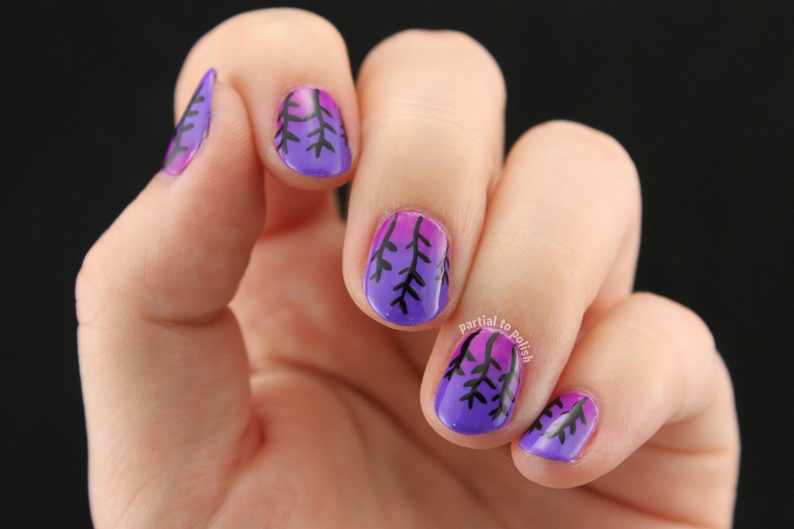 Partial To Polish Wheat At Sunset Nail Art Inspired By Chalkboard