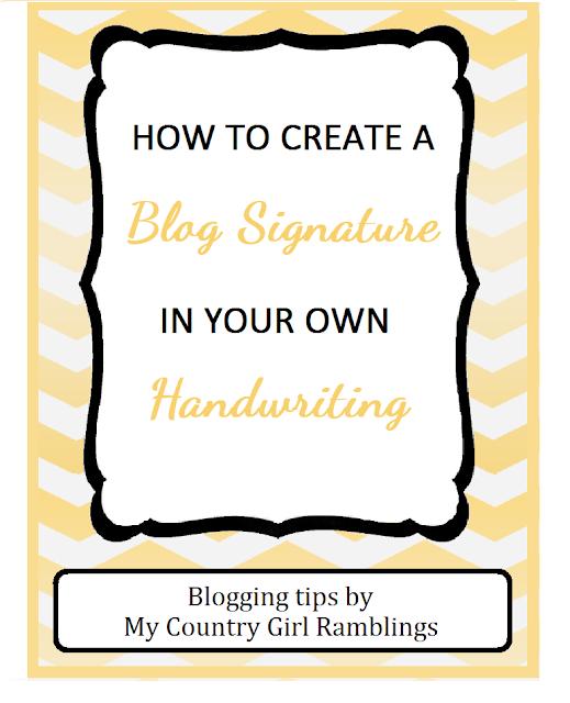 <diy blogging> <diy blog signature>