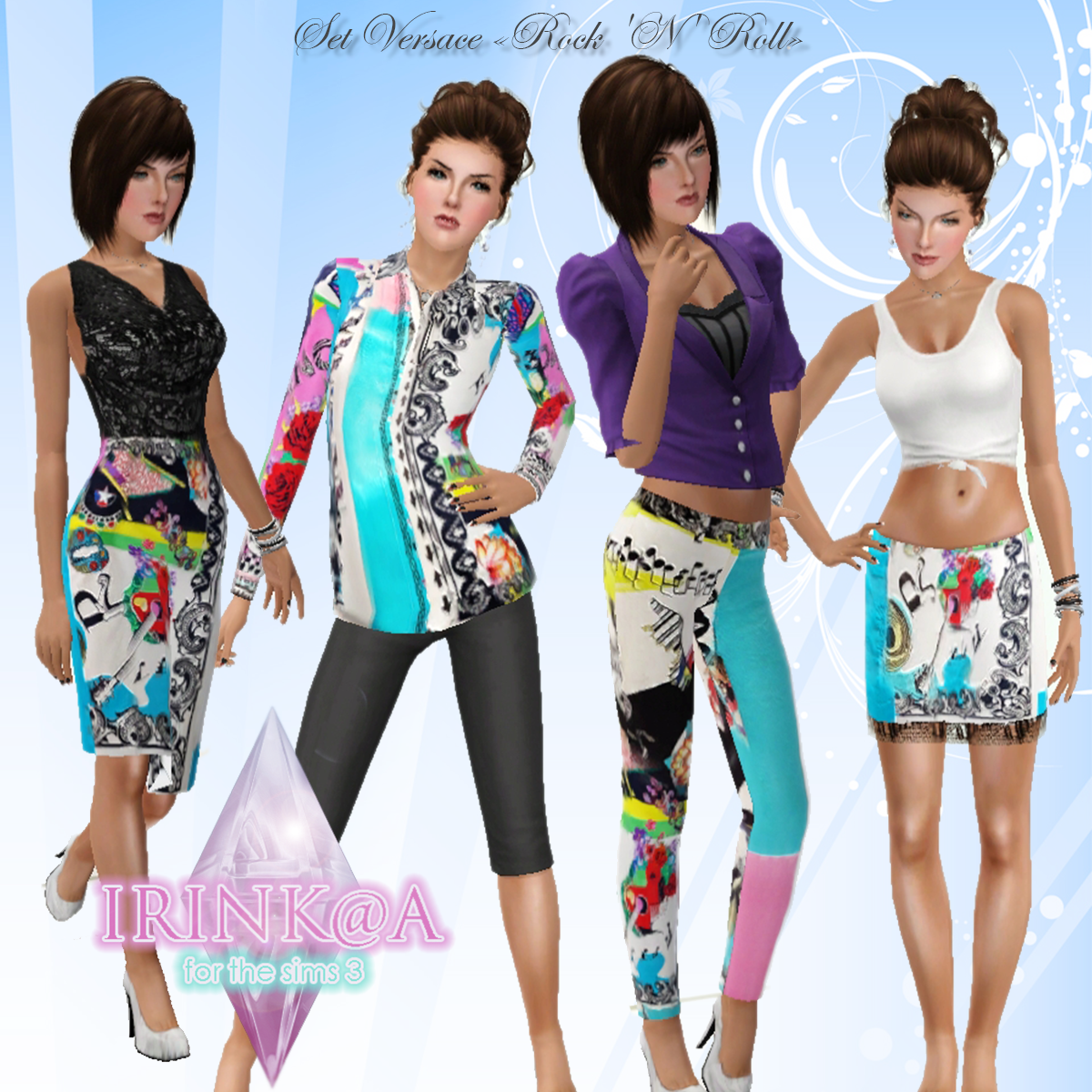 my sims 3 versace rock n roll clothing set by irink a