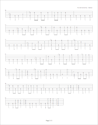 Banjo banjo tabs tabledit : Devon's Banjo Homeplace: The Little Drummer Boy (written arrangement)