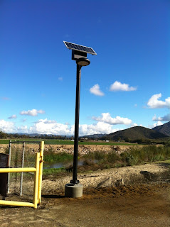 Solar Power Lights Installed