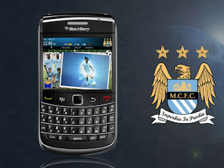 Theme Manchester City for Blackberry