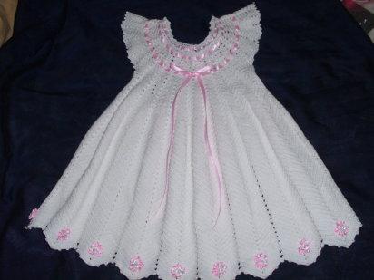TRICO y CROCHET-madona-mía: Vestido para niñas en croche