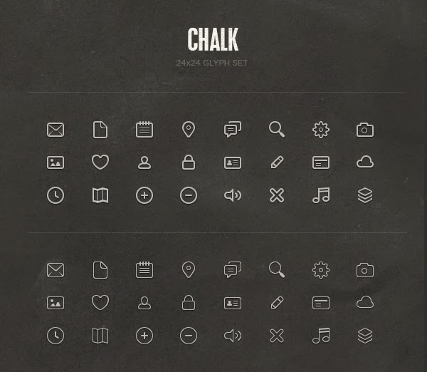 Chalk Glyph Set by Dalton.. icon set terbaru cdr gratis download