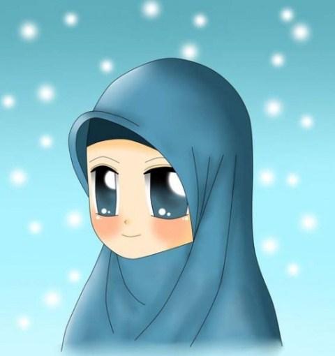 Kumpulan Gambar Kartun Muslimah Sedih Terbaru