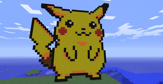 Pikachu minecraft pixel art building ideas