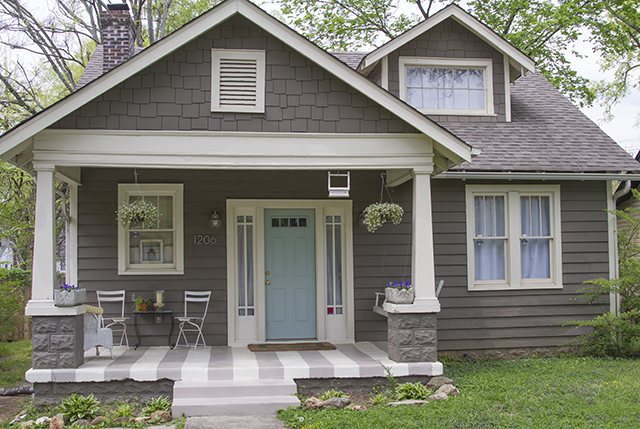 The porch makeover continues a haint blue ceiling for What color to paint my front porch