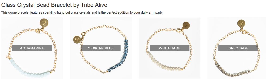 Tribe Alive, Tribe Alive bracelet, Crystal bracelet, FabFitFun, Fab Fit Fun, FabFitFun Fall 2015