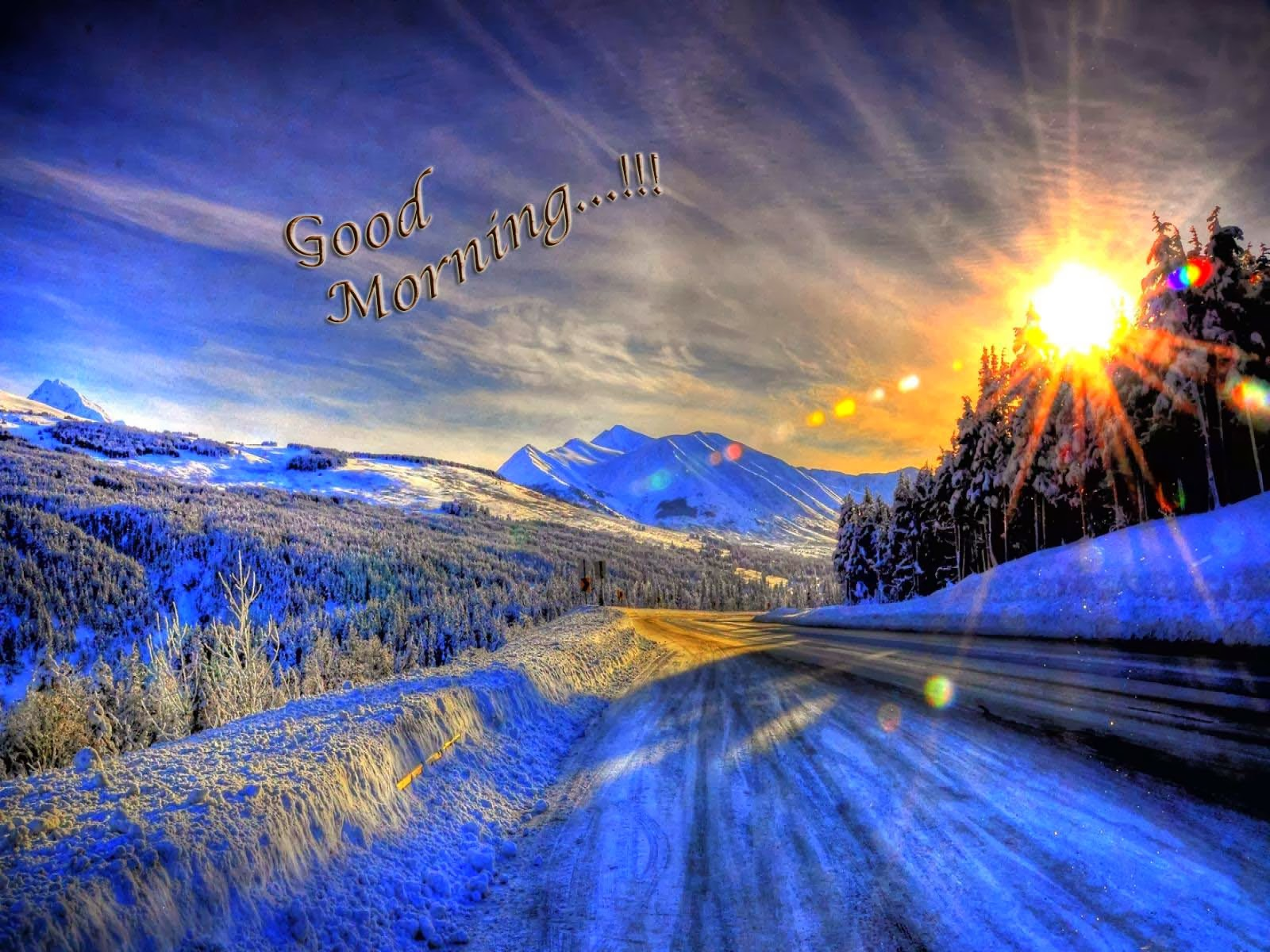 good morning with blue background wallpapers