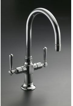 Kohler K-7342-4 Hirise Stainless Two Handle Bar Sink Faucet