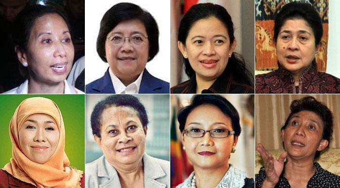 8 Wanita Menteri Kabinet Kerja Jokowi