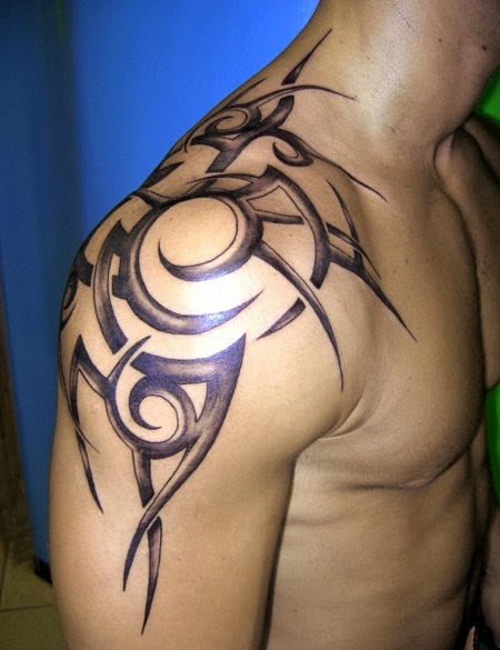 upper back tattoos for men best tattoos. Black Bedroom Furniture Sets. Home Design Ideas