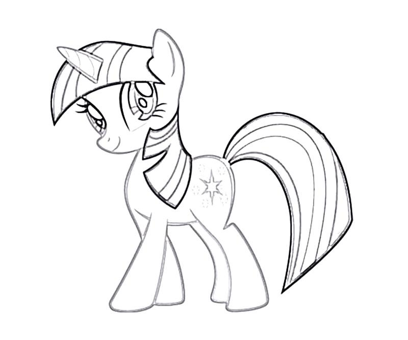 #13 Twilight Sparkle Coloring Page