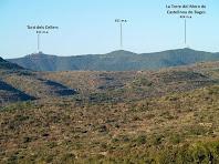 La Torre del Moro de Castellnou de Bages des del Camí del Serrat del Maurici