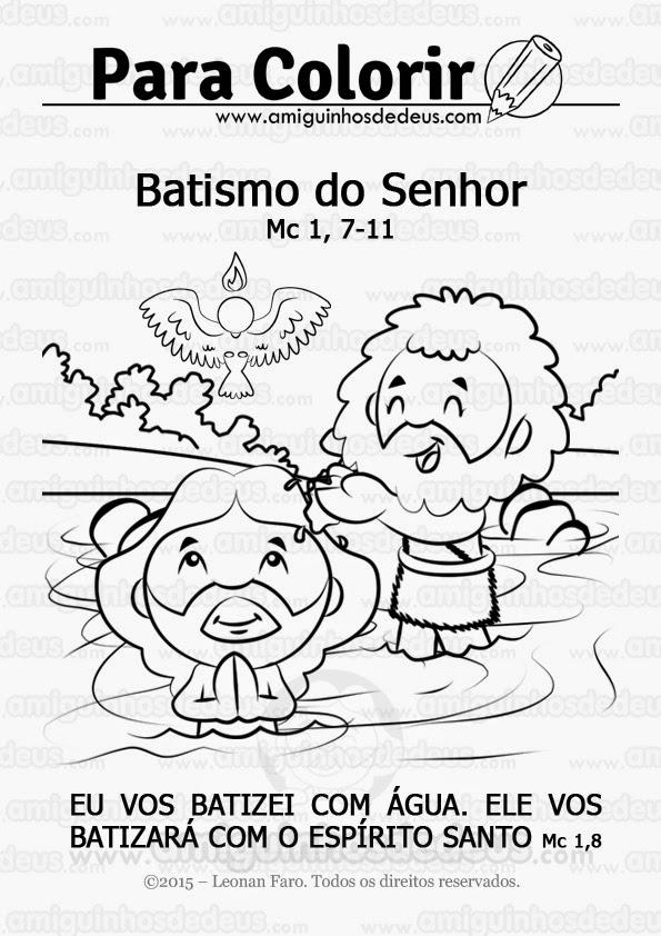 batismo de jesus desenho para colorir