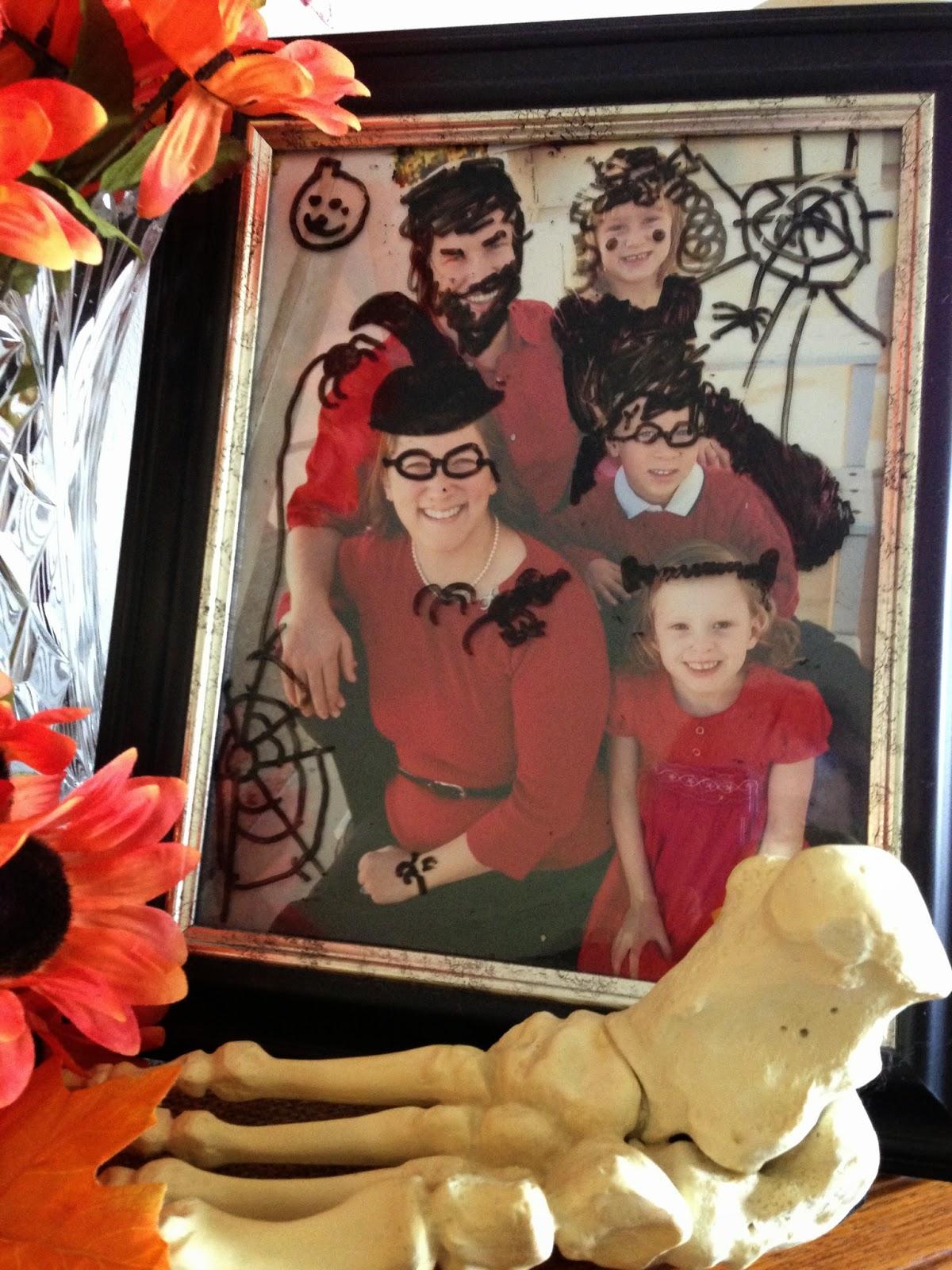 Halloween Home Display...by my nine-year old! See her creative genius! #halloween #homedecor #decorations