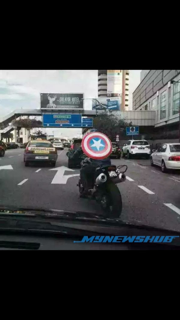 Superhero Captain America Buat Apa Di Johor Bahru?, info, terkini, sensasi, viral. lawak,