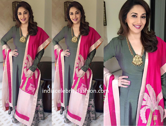 Madhuri Dixit in Vineet and Rahul Salwar kameez