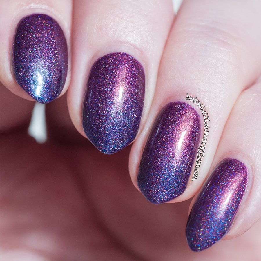 Holo gradient using Femme Fatale Burning Dusk and Ruby Hare