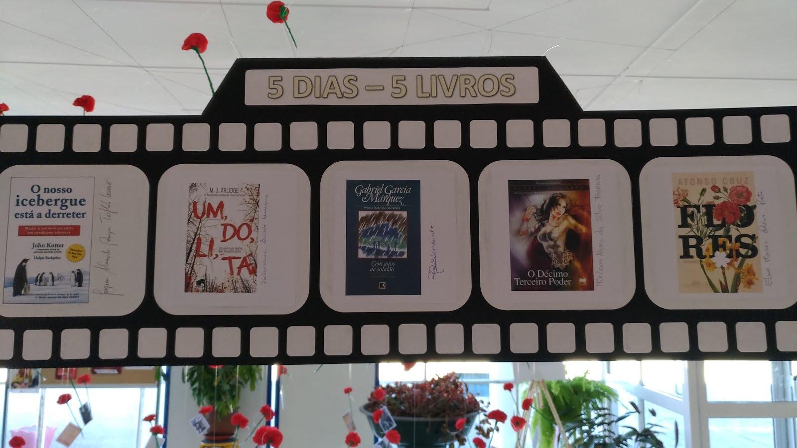 5 dias, 5 livros