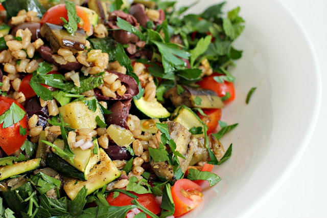 and eggplant and barley salad eggplant and barley salad pin it