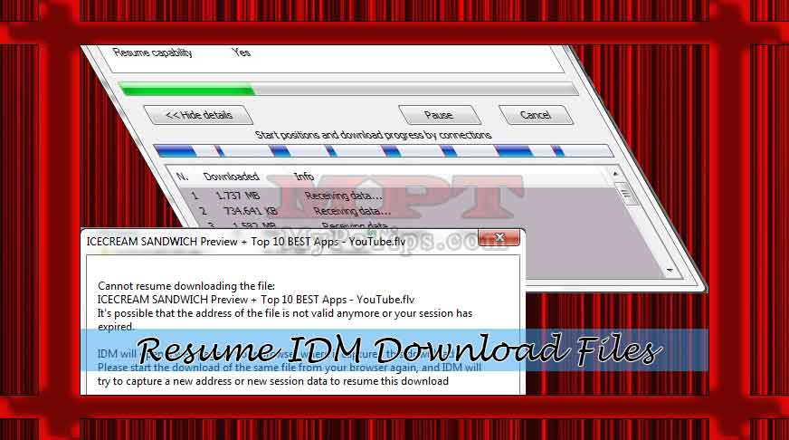 resume idm downloads or videos my pc tips