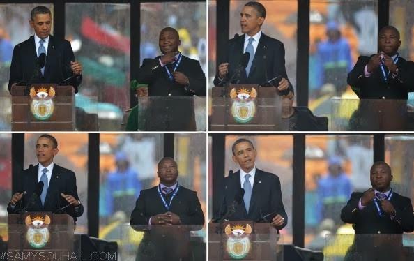 بالفيديو: مترجم لغة الإشارة في حفل تأبين نيلسون مانديلا مزيف !
