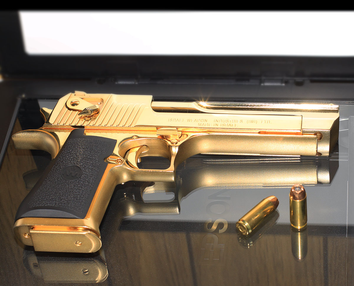 Guns Weapons Gold Desert Eagle