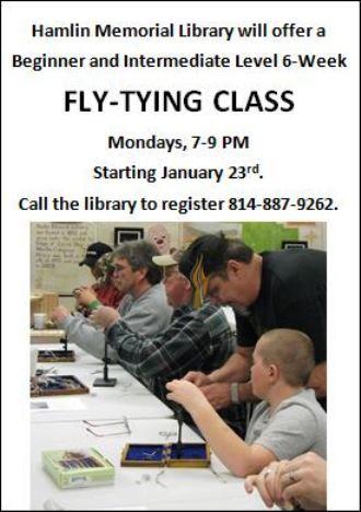 1-23 Fly-Tying Class Hamlin Library