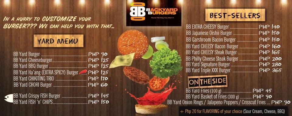 backyard burger restaurant menu village burger bar raises the bar