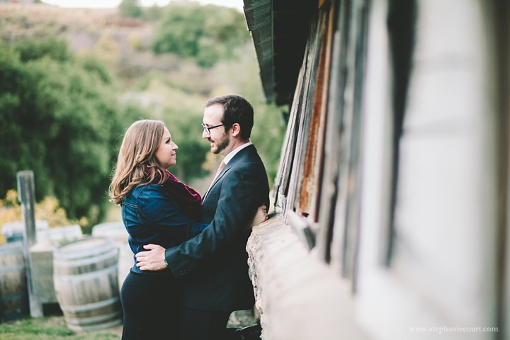 """engagement photos at Picchetti Winery"""