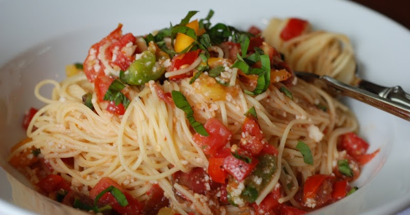 Simply so good summer garden pasta for Ina garten summer garden pasta