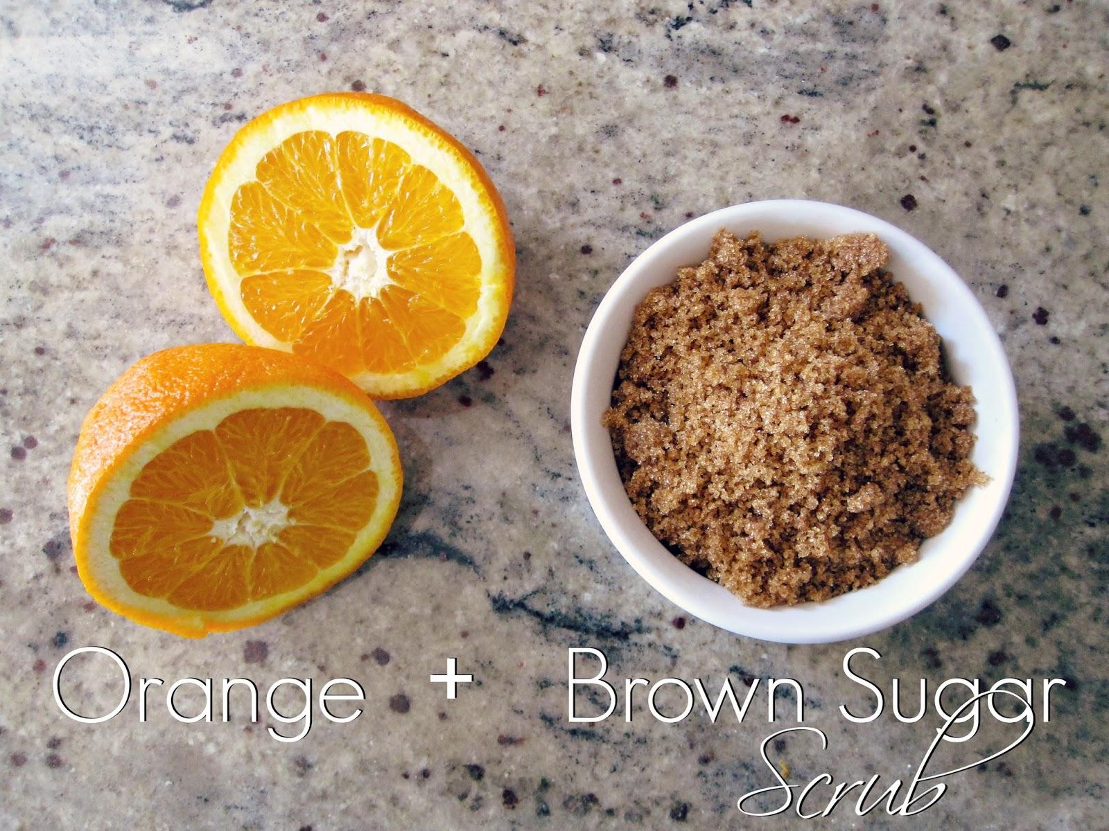 DIY Orange and Brown Sugar Scrub