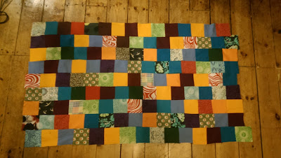 Patchwork cloth made from fabric scraps