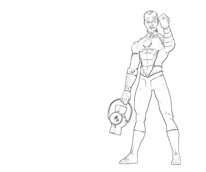 printable thaal sinestro look coloring pages
