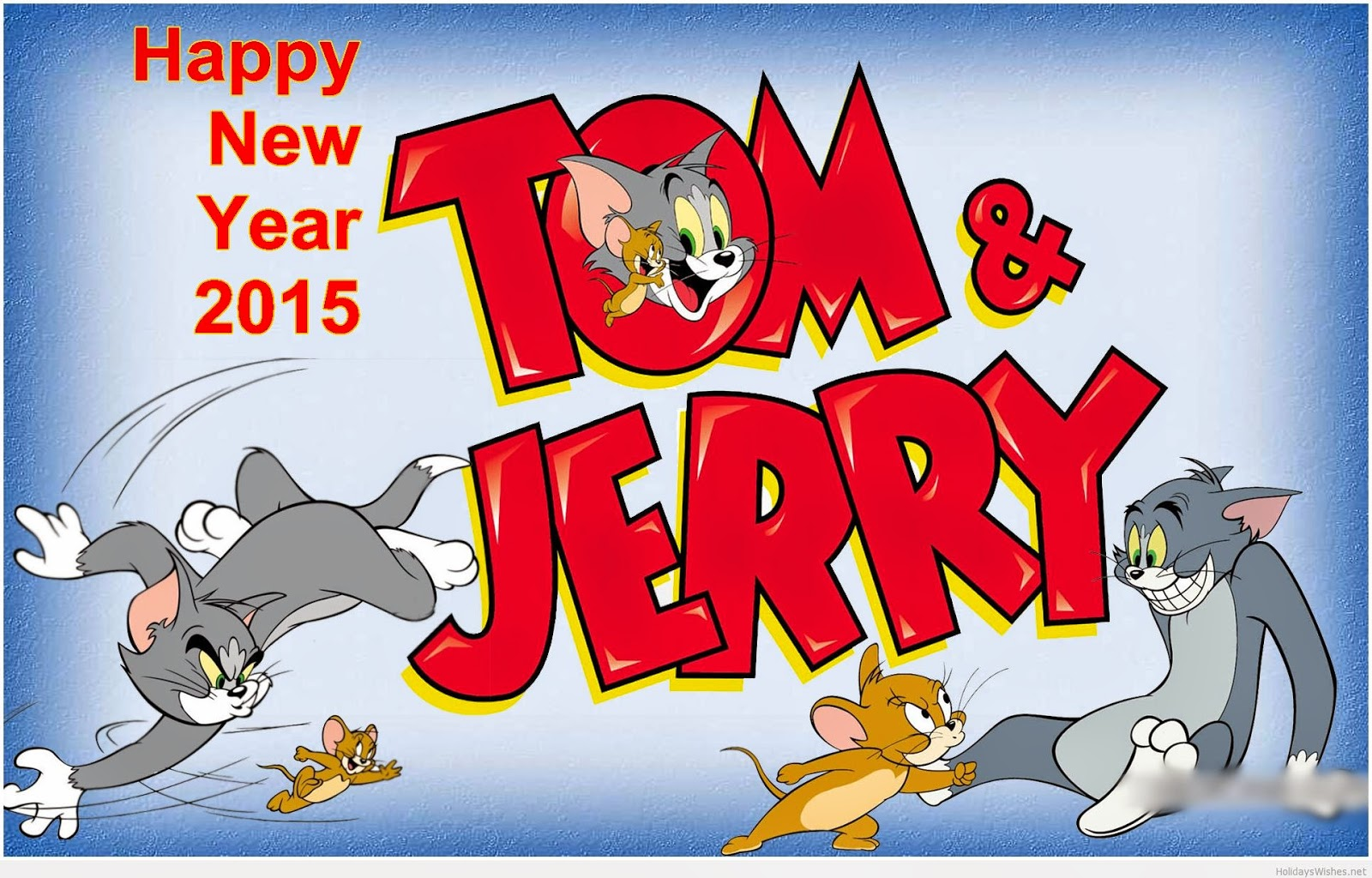 New Year Tom and Jerry wallpaper for kids
